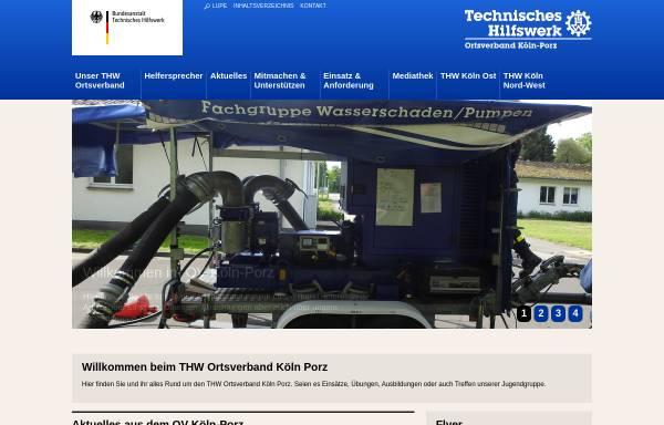 Vorschau von www.thw-koeln-porz.de, THW Ortsverband Köln-Porz