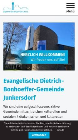 Vorschau der mobilen Webseite www.ekir.de, Evangelische Gemeinde Junkersdorf