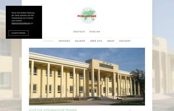 Vorschau von www.rezai-stiftung.org, Rezai Stiftung e.V.