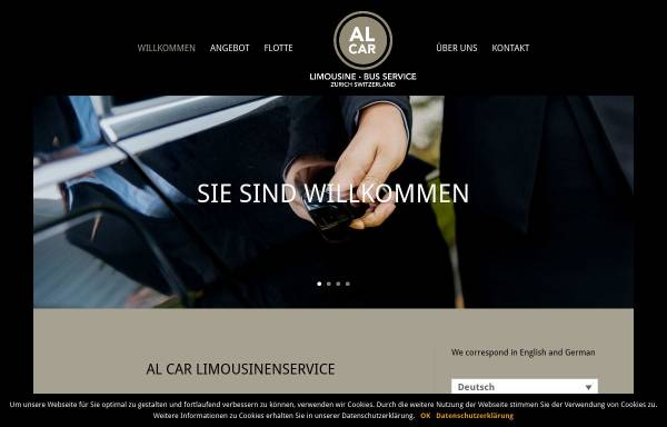 Vorschau von www.al-car.ch, Al-Car Limousine/Bus-Service, Fredy Horne