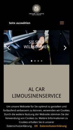 Vorschau der mobilen Webseite www.al-car.ch, Al-Car Limousine/Bus-Service, Fredy Horne