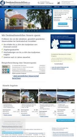 Vorschau der mobilen Webseite www.denkmalimmobilien.info, N&P Immobilien GmbH