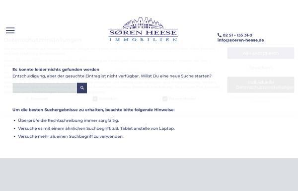 Vorschau von www.soeren-heese.de, Sören Heese Immobilien GbR