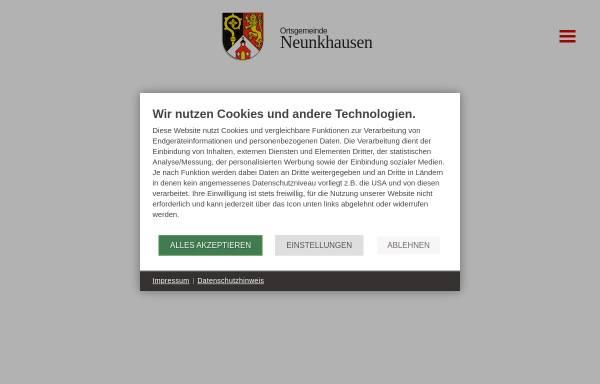 Vorschau von www.neunkhausen.de, Ortsgemeinde Neunkhausen
