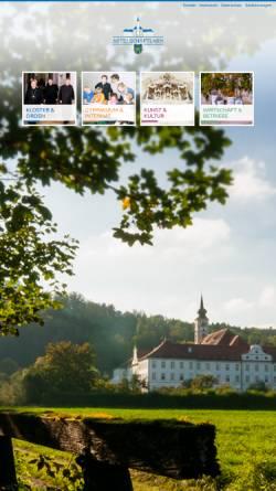 Vorschau der mobilen Webseite www.abtei-schaeftlarn.de, Benediktinerabtei Schäftlarn