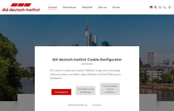 Vorschau von www.did.de, did deutsch-institut Frankfurt