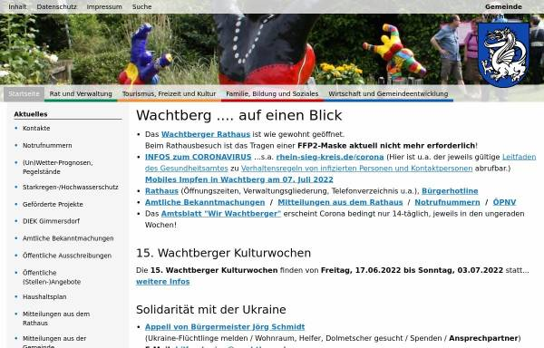 Vorschau von www.wachtberg.de, Gemeinde Wachtberg