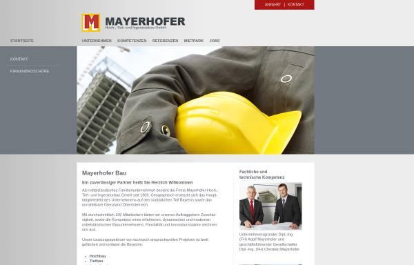 Vorschau von mayerhofer-bau.de, Mayerhofer Hoch-, Tief-, Ingenieurbau GmbH