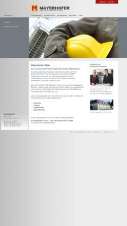 Vorschau der mobilen Webseite mayerhofer-bau.de, Mayerhofer Hoch-, Tief-, Ingenieurbau GmbH