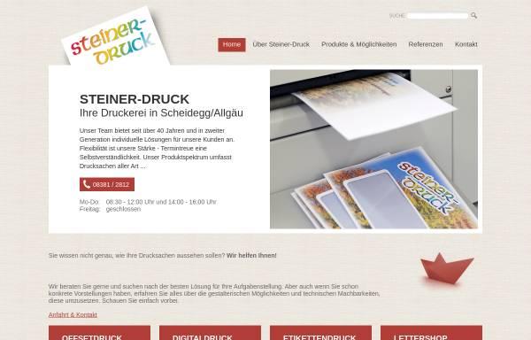 Vorschau von www.steiner-druck.de, Druckerei Steiner