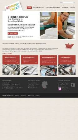 Vorschau der mobilen Webseite www.steiner-druck.de, Druckerei Steiner