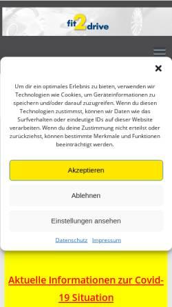 Vorschau der mobilen Webseite www.fit-2-drive.de, Fahrschule am Harthof GmbH