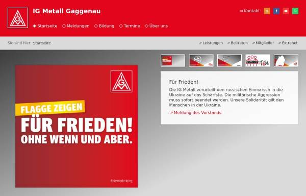 Vorschau von www.gaggenau.igm.de, IG Metall Gaggenau