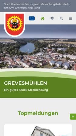 Vorschau der mobilen Webseite www.grevesmuehlen.de, Stadt Grevesmühlen