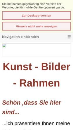 Vorschau der mobilen Webseite www.kunst-bilder-rahmen.de, Galerie Lüder