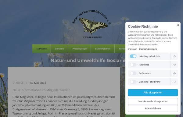 Vorschau von nu-goslar.de, Natur- und Umwelthilfe Goslar e.V.