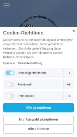 Vorschau der mobilen Webseite nu-goslar.de, Natur- und Umwelthilfe Goslar e.V.