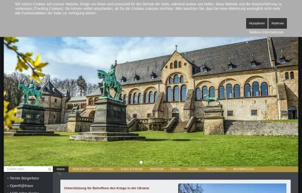 Vorschau von www.goslar.de, Stadt Goslar