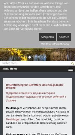 Vorschau der mobilen Webseite www.goslar.de, Stadt Goslar