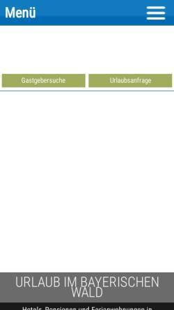 Vorschau der mobilen Webseite www.bayrischerwald.de, Bayrischerwald.de
