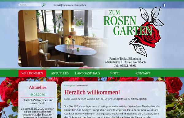 Vorschau von www.zum-rosengarten-golmbach.de, Gasthaus zum Rosengarten - Familie Eikenberg