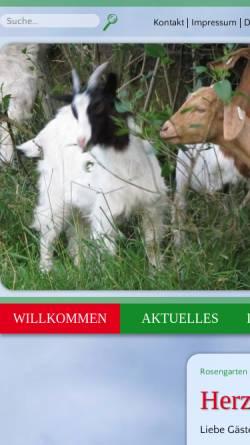 Vorschau der mobilen Webseite www.zum-rosengarten-golmbach.de, Gasthaus zum Rosengarten - Familie Eikenberg
