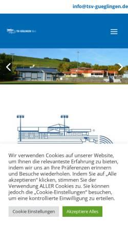 Vorschau der mobilen Webseite www.tsv-gueglingen.de, TSV Güglingen