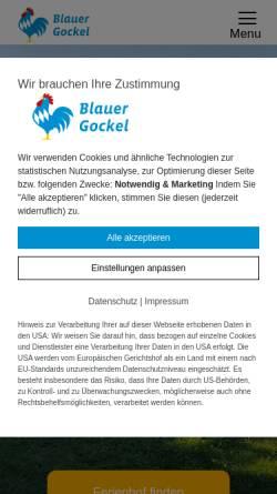 Vorschau der mobilen Webseite www.bauernhof-urlaub.com, Landesverband Urlaub auf dem Bauernhof in Bayern