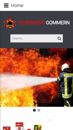 Vorschau der mobilen Webseite www.feuerwehr-gommern.de, Feuerwehr Gommern