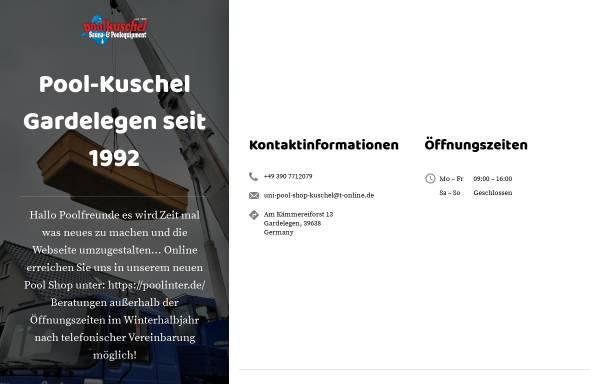 Vorschau von www.pool-kuschel.de, Unipool Fachhandel Kuschel