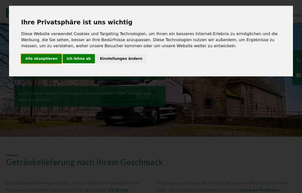 Getränke Heinemann GmbH & Co. KG: Großengottern, Städte und ...