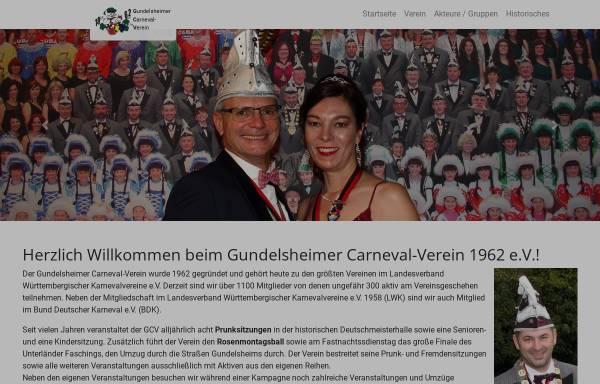 Vorschau von www.gcv1962.de, Gundelsheimer Carneval Verein 1962 e.V.