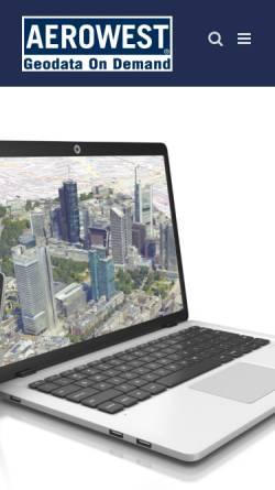 Vorschau der mobilen Webseite www.aerowest.de, Aerowest GmbH Geodatenservice