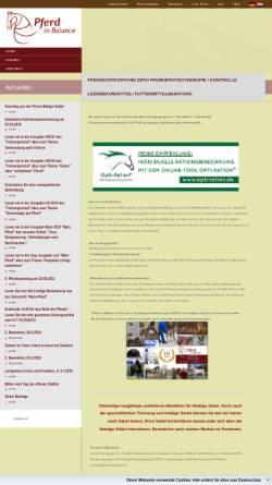 Vorschau der mobilen Webseite www.pferd-in-balance.de, Pferd-in-Balance Claudia Schleiermacher