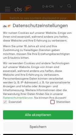 Vorschau der mobilen Webseite www.cbs-consulting.com, Cbs Corporate Business Solutions Unternehmensberatung GmbH