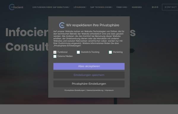 Vorschau von www.infocient.de, Infocient Consulting GmbH