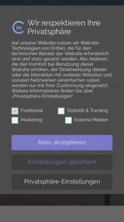 Vorschau der mobilen Webseite www.infocient.de, Infocient Consulting GmbH