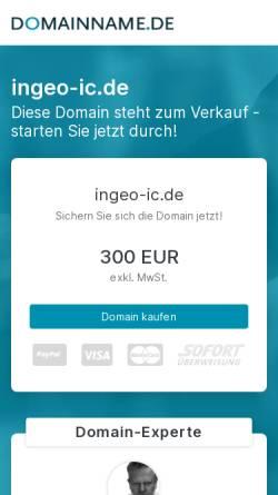 Vorschau der mobilen Webseite www.ingeo-ic.de, InGeoIC