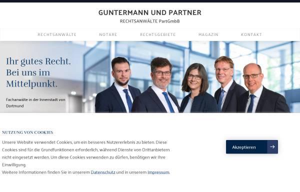 Vorschau von www.guntermann-rechtsanwaelte.de, Rechtsanwälte Guntermann, Porten, Becker, Bosmann und Partner