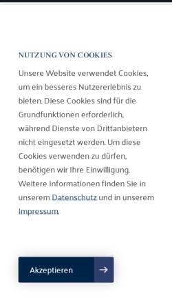 Vorschau der mobilen Webseite www.guntermann-rechtsanwaelte.de, Rechtsanwälte Guntermann, Porten, Becker, Bosmann und Partner