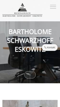 Vorschau der mobilen Webseite www.dortmund-anwalt.de, Rechtsanwälte Bartholome, Goosmann und Schwarzhoff