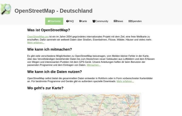 Vorschau von www.openstreetmap.de, OpenStreetMap