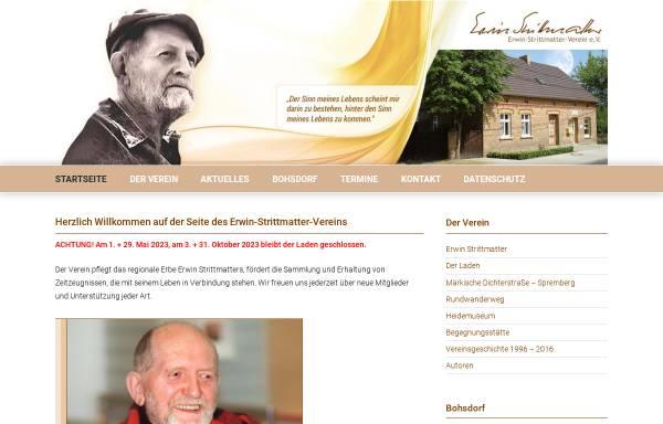 Vorschau von www.strittmatter-verein.de, Strittmatter-Verein