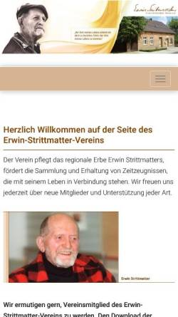 Vorschau der mobilen Webseite www.strittmatter-verein.de, Strittmatter-Verein