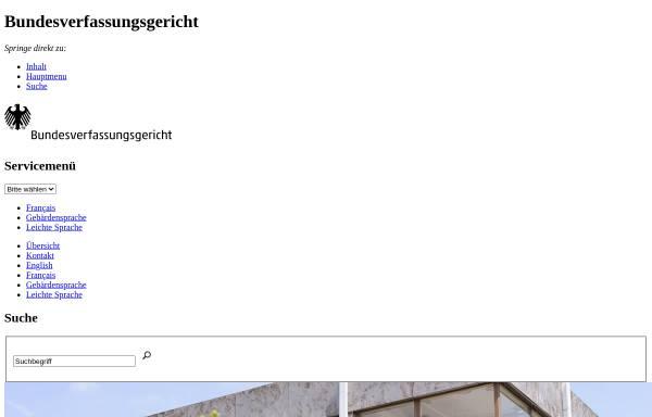 Vorschau von www.bverfg.de, Bundesverfassungsgericht zur Bundestagsauflösung