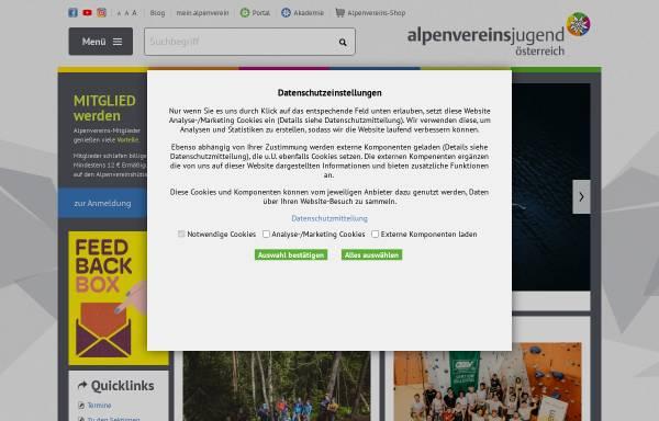 Vorschau von www.alpenverein.or.at, Alpenvereinsjugend