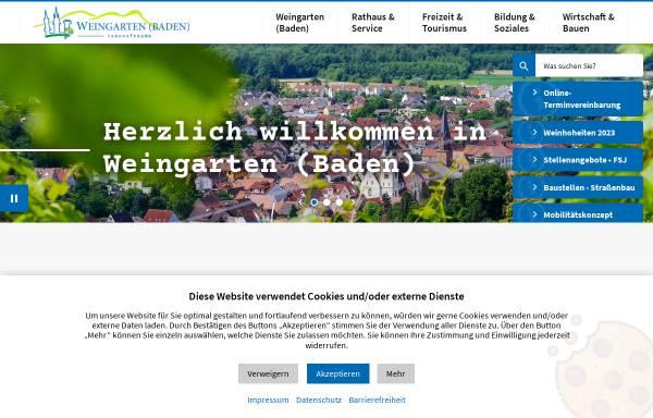 Vorschau von www.weingarten-baden.de, Gemeinde Weingarten-Baden