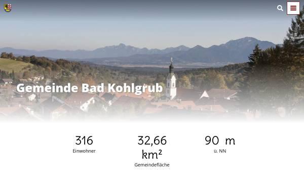 Vorschau von www.bad-kohlgrub.de, Gemeinde Bad Kohlgrub
