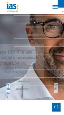 Vorschau der mobilen Webseite www.ias-web.de, IAS Individual Applications Solutions Software und Internet Riga, Seel und Jost GbR