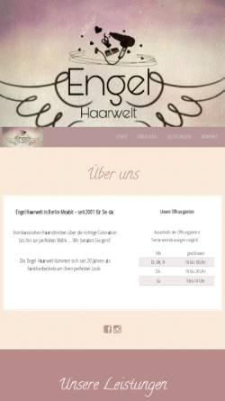 Vorschau der mobilen Webseite www.engel-haarwelt.de, Engel Haarwelt Friseursalon